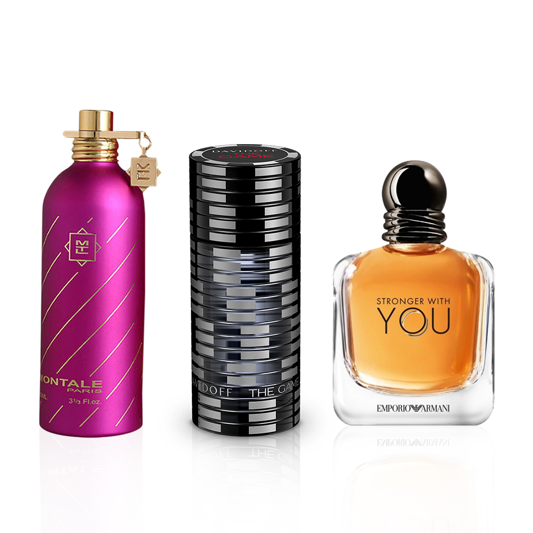 Emporio Armani Stronger With You / Davidoff The Game / Montale Roses Musk